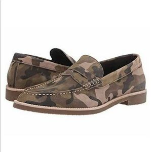 NEW Robert Wayne Andrew Suede Camo Loafer